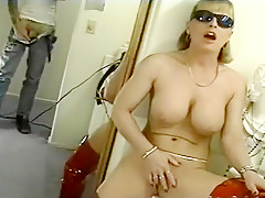 Hillary Daniels Strips Off Her Red Latex Suit & Tastes Her Coochie Juice