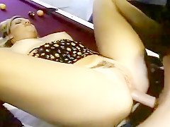 Micro Titted Hairy Blonde Likes Having Weiner Deep In Her Anus