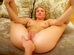 Short Haired Sweetie Bounces On Cock
