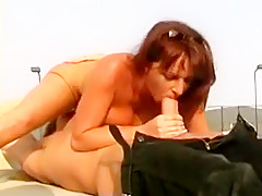 Large breasted Redhead Swallows Jizz Load Outdoors