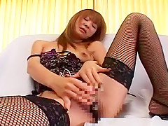 Amazing Japanese chick Naho Ozawa in Hottest Stockings, Lingerie JAV clip