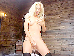 Lyra Law in Sexy As Fuck Blonde Babe is Machine Fucked - FuckingMachines