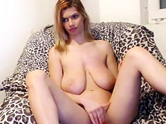 Crazy Big Tits, Masturbation adult movie