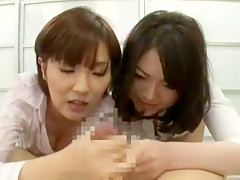 Incredible Japanese girl Chiharu Nakai in Horny Handjobs, Masturbation JAV movie