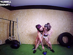 Frida Sante in Kettlebell Deadlift - ButtFormation