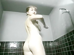Insatiable Japanese wife enjoys a hard pounding before taking a shower
