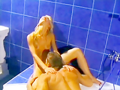A sporty European girl bends over to get fucked like a dirty dog