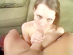 Eager playboy gets to slam his balls against this cutie's porcelain ass