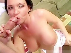 Busty brunette cougar Maya Devin is in need of a stiff rod in her cunt
