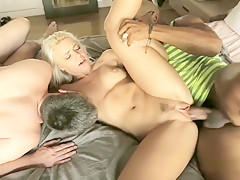 Petite blonde Anikka Albright gets her pussy stretched by Shane Diesel
