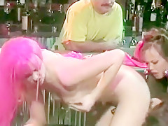 Mia Smiles gets into a threesome with a pink-haired babe and horny dude