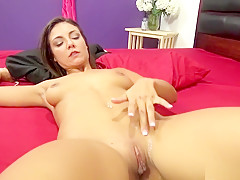 Enticing girl with perfect tits and ass fucks a hard dick with fervor