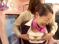 Amazing Japanese whore Aoki Misora, Reiko Asahina in Exotic Stockings, Blowjob JAV video