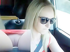 DRIVING MASTURBATION PUBLIC ROAD SEX CAR SHAVED PUSSY FACE SEXY BLONDE CHAT