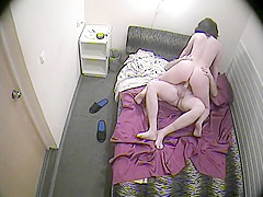 He sets up his camera to film her blowing and fucking witho