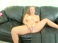 Big, saggy tit Kaylee chews on his black meat before he slams it home