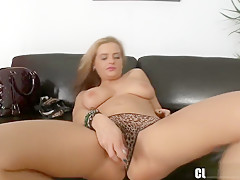 Delightful young piece of tail loves to suck on a hard piston