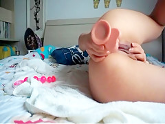 Toy anal play