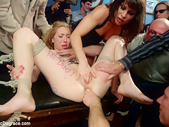Tiny Thing Suspended And Fucked By The Unstoppable Ariel X - PublicDisgrace