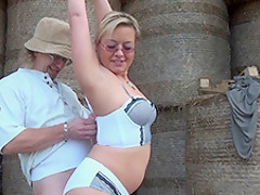 German wife surprises a farmer - MMVFilms