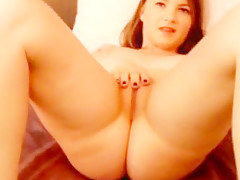 Hot  junior red head masturbates naked on cam