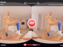 Jasmine Jae & Juan Lucho in Hard Workout - VirtualRealPorn
