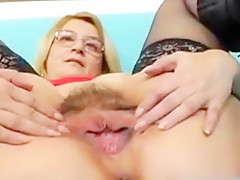 Mature and latex cock
