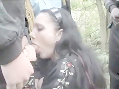 UK DOGGING WHORE: Filthy slut takes multiple loads both outdoors and indoor