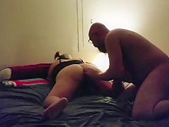 Amateur Couple PT1 Eating own creampie,toy in his ass