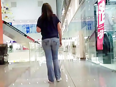 MILF's ass in the mall