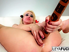 Leya Falcon in Leya Falcon Strips At A Gold Covered Strip Club - LeyaFalcon