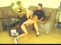 Pissing action! Girl with a very weak bladder