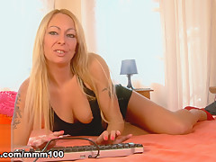 Tamara Dix in Lovely With Big Boobs Tamara Dix Removing Clothes Alone On Her Webcam  - MMM100
